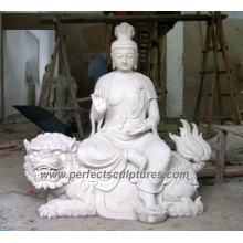 Antique Temple Buddha with Stone Granite Sculpture Marble Statue (SY-T117)