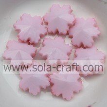 Fits Bracelet DIY Making Authentic Acrylic Pink Beads Snowflake Shinny Women Accessories 14MM