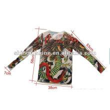 2016 heiße Verkauf lange Hülsentätowierung Nylon T-Shirt für Frauen Los Verkäufe