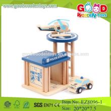 Juguetes de juguete de madera juego juguetes de juego de la estación de policía juguetes juguetes juguetes juego juego