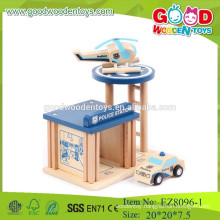 wooden pretend play toys set police station set toys pretend play kids toys set pretend play