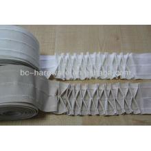 Bande de rideau de poche, bande de rideau plissé, bande de rideau blanc