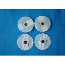 White 5mm Non-woven Ecg Disposable Electrodes For Medical, Disposable Ecg Electrodes With 3.9mm Snap Connection
