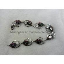 Moda brazalete de joyería de plata cuarzo místico (BR0034)