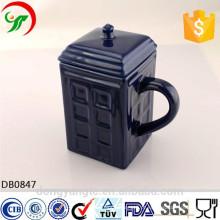 Copo personalizado da porcelana do logotipo, caneca de café da porcelana com tampa