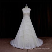 Venice Lace Appliques Wedding Dress Evening