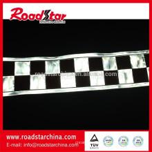 schwarze und weiße reflektierende Checker Band für Kleidung