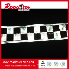 black and white reflective checker tape for clothing