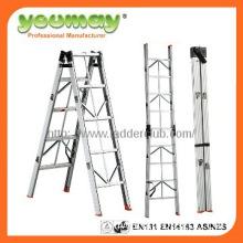 EN131 Approved Aluminum step ladder, handrail step ladder AF0405A
