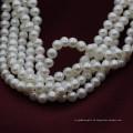 4mm Mini-Größe natürliche kultivierte reale weiße Perlen-Korn-Schnur