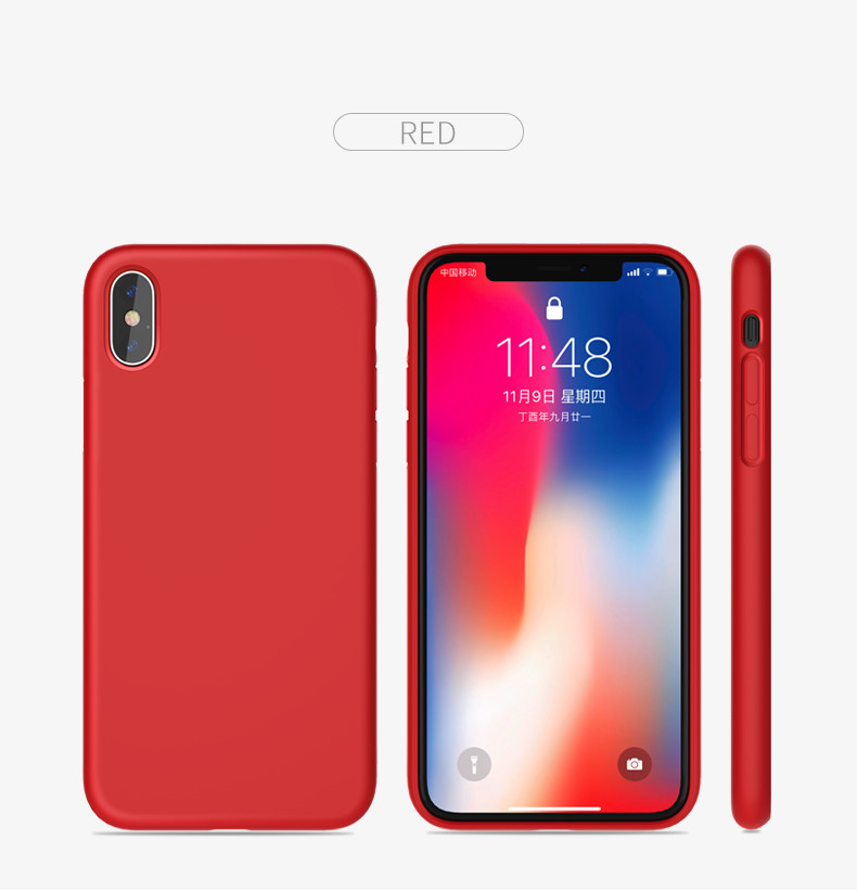 red phone case silicone