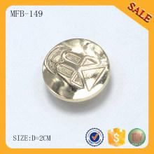 MFB149 Liga de zinco movendo botão personalizado de metal para jeans
