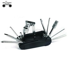 Black bike multi tool hand repair kits with extractor