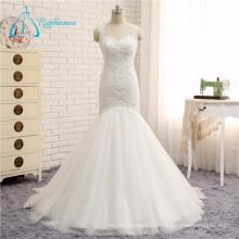 Querida Backless Gorgeous White Mermaid Sexy Wedding Dress