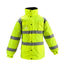 Quilt Lined Warning Security Safety Jacket