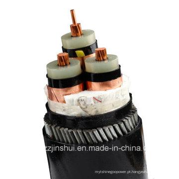 0.6 / 1kv Cu Conductor PVC Isnulation Fita De Alumínio Cabo De Alimentação De PVC