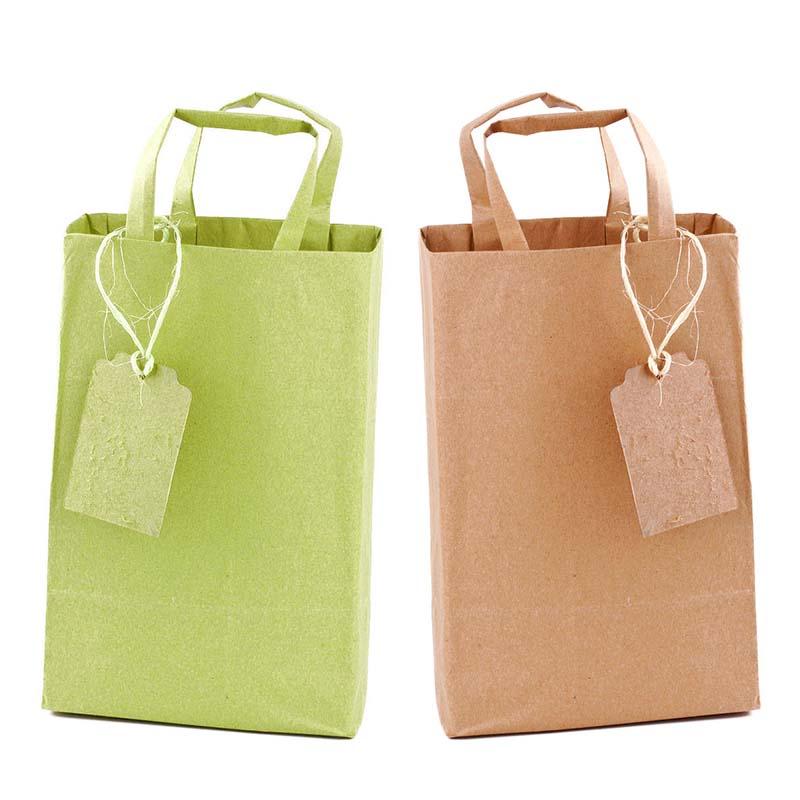 Yellow Kraft Paper Bags