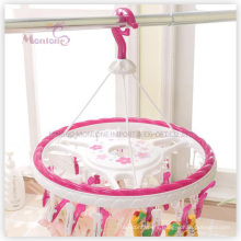 PP Plastic Round Hanger with 24PC Clips (L size 40*35cm)