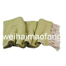 Броска одеяло/органический хлопок хлопок выбросить/бахромой 100% хлопок