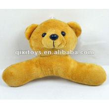 Percha de oso de peluche de felpa de peluche rellena encantador 100%