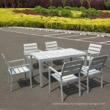 Jardín patio plástico muebles de madera al aire libre