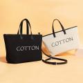 Ökologisch bedruckte Canvas-Einkaufstasche mit Logo