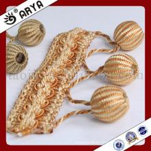 Borla hermosa y elegante y franja tejida a mano para la cortina deco y la decoración de la lámpara