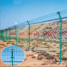 hebei anping KAIAN green pvc coated galvanized wire fencing(30 years manufacturer)