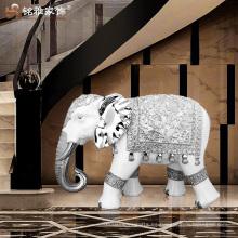 Estatuas grandes del elefante de la resina antigua india de la decoración caliente del hogar de la venta