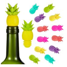 Rolhas de silicone para garrafas de vinho engraçadas com abacaxi