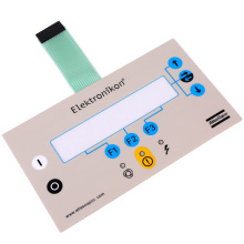 Panel de interruptores de membrana con botón pulsador con adhesivo 3M467