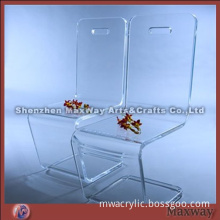 Hot bending blue acrylic furniture arm-chair