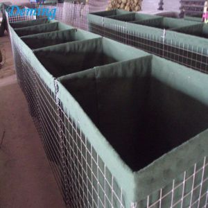 Muro de arena militar Hesco Barrera / Defensive Flood Sandbags Gabion Walls en venta