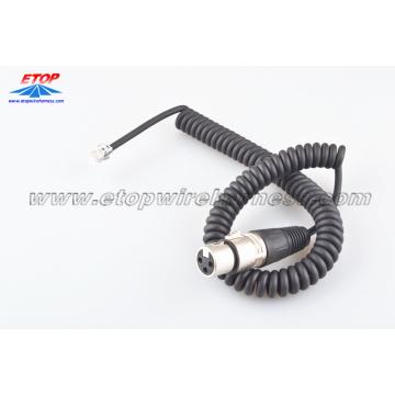 Câble de prise microphone 3 broches moulé