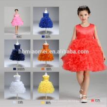 Fabrik-Versorgungsmaterial billig Kinder nette Ponceau Prinzessin Kleid coloful überlagerte kurzen Baby Mädchen Sommer Kleid Großhandel