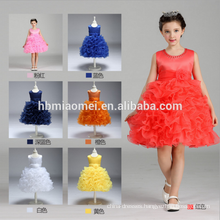 Factory supply cheap Children's Cute Ponceau Princess Dress coloful layered short baby girl summer dress wholesale
