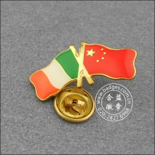 Italian and Chinese Flag Badge, Lapel Pin (GZHY-LP-002)