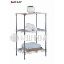 Cuarto de baño de acero inoxidable Rack de almacenamiento de acero (CJ703590B3C)