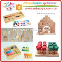 Montessori Material Sensorial De Madera Preescolar Niños Educativos Juguetes