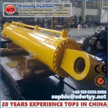 Cilindro hidráulico de grande diâmetro e longo Stoke Heavy Duty para portão de barragem