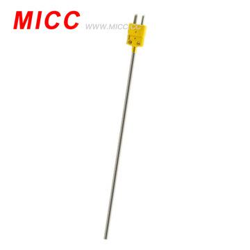 MICC SS316 revestido com sonda de 0,5 mm * 150 mm com mini-ficha OMEGA termopar tipo K / J
