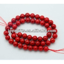 8MM Red Coral Round Beads