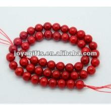 8MM красный коралл круглый бисер