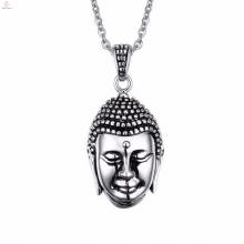 Bijoux religieux de costume en acier inoxydable Jésus Mens tête collier pendentif