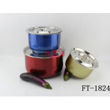 Stainless Steel Print Spraying Cook Pot (FT-1824)