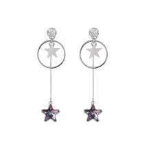 97416 cristales elegantes de Xuping Fashion de Swarovski, exquisitos pendientes de gota para dama