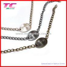 Fashionable Metal Label with Metal Chain