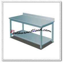 TS263 SS304 Banco de trabajo de acero inoxidable con salpicadero