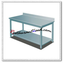 TS263 SS304 Stainless Steel Work Bench With Splashback
