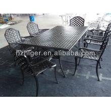 mobília ao ar livre mobiliário de fundição conjunto de sofá